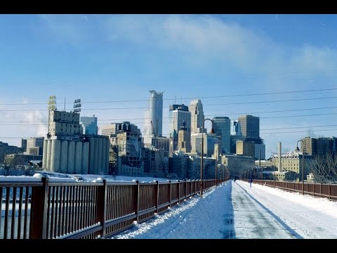 MINNEAPOLIS, MINNESOTA. Winter time.