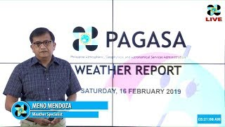 Public Weather Forecast Issued at 4:00 AM February 16, 2019