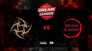 Ninjas in Pyjamas vs Demon Slayers, DreamLeague S12, bo3, game 2 [Maelstorm & Mortalles]