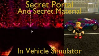 How to Open the Secret Portal | Vehicle Simulator | Roblox