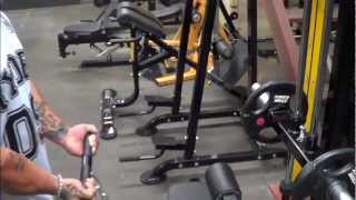 Powertec Lat Machine Demonstration by Lee Priest