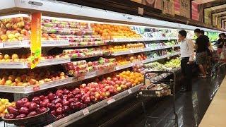 Đi mua đồ ăn trong AEON MALL Long Biên | Hanoi city tour | Vietnam travel