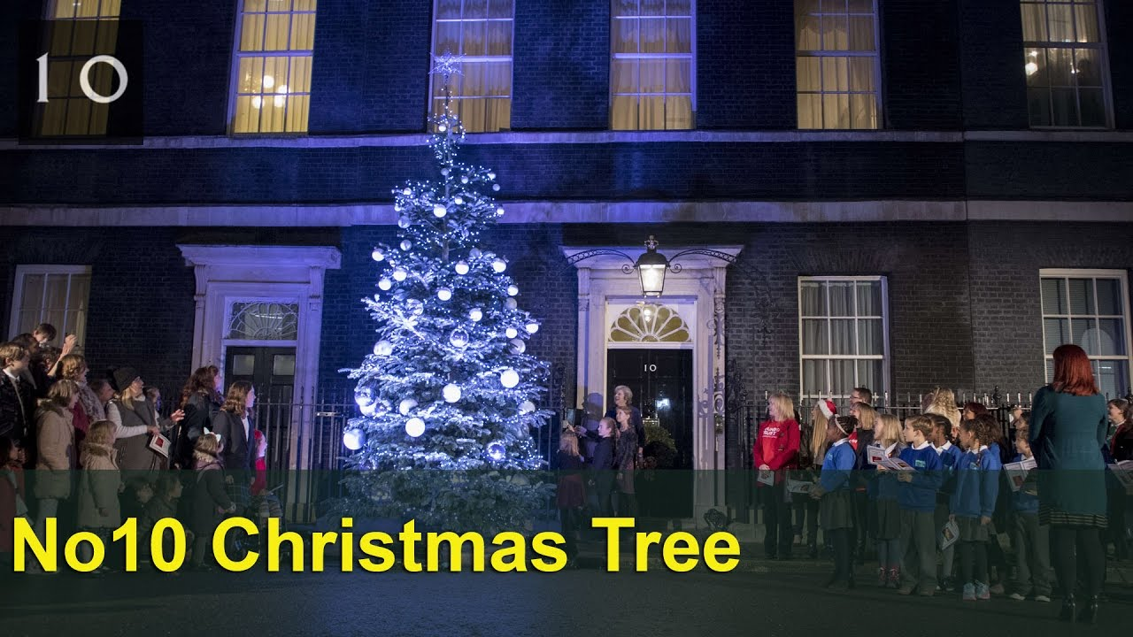 The Number 10 Christmas tree lights switch-on - YouTube