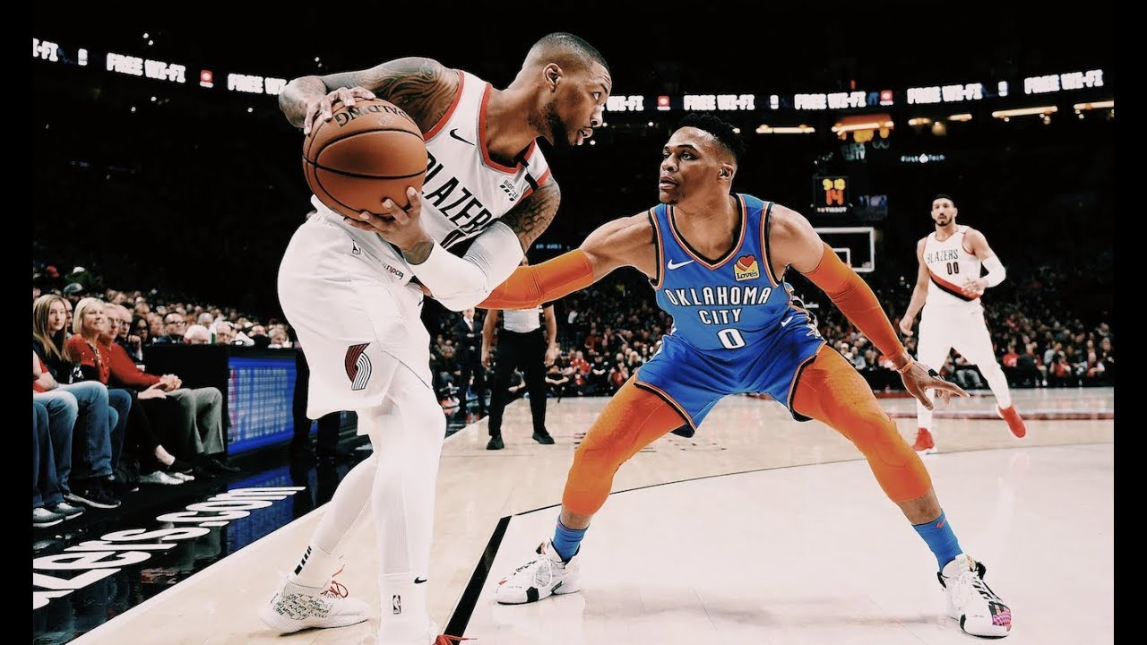 Damian Lillard Vs. Russell Westbrook Game 1 Recap | Dame Comes Up Big Time In W, Russ Trip-Dub