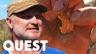 Rick Braces Extreme Desert Heat To Hit His Season Target | Aussie Gold Hunters