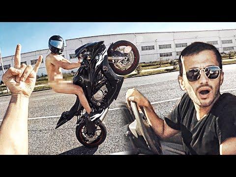 Мотоциклист проиграл спор - Еду в трусах по городу на литровом мотоцикле