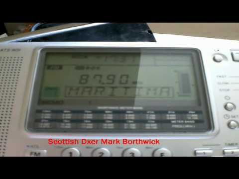 FM DX Radio Maritima 87.9Mhz Martigues France Received in Scotland On Sangean ATS909 + Whip Antenna