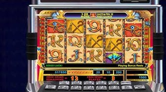 Cleopatra Pokie Machine by IGT - Free Feature - 15 Free Spins - Video Slots