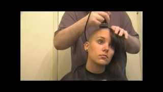 Female Head Shaving Video - A Girl's Head Shave