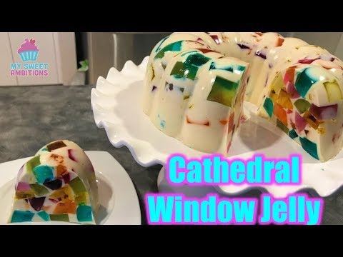 Cathedral Window Jelly Dessert - Mysweetambitions