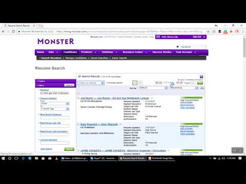 Monster.com (Boolean logic)