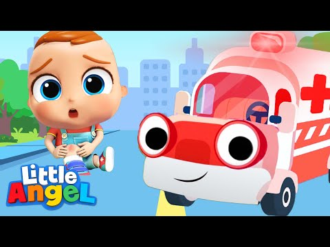 Ambulance Rescue Team | Little Angel Nursery Rhymes And Kids Songs