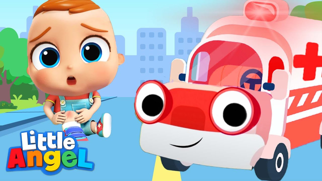 Ambulance Rescue Team   Little Angel Nursery Rhymes and Kids Songs