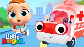 Download Ambulance Rescue Team | Little Angel Nursery Rhymes and Kids Songs Mp3 and Videos