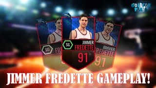 91 Jimmer Fredette Gameplay!! BEST Offensive Card EVER!!! NBA Live Mobile