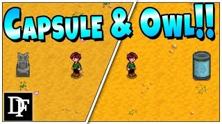 They DO EXIST! 129 Years Later.. The Strange Capsule AND Stone Owl! - Stardew Valley 1.3
