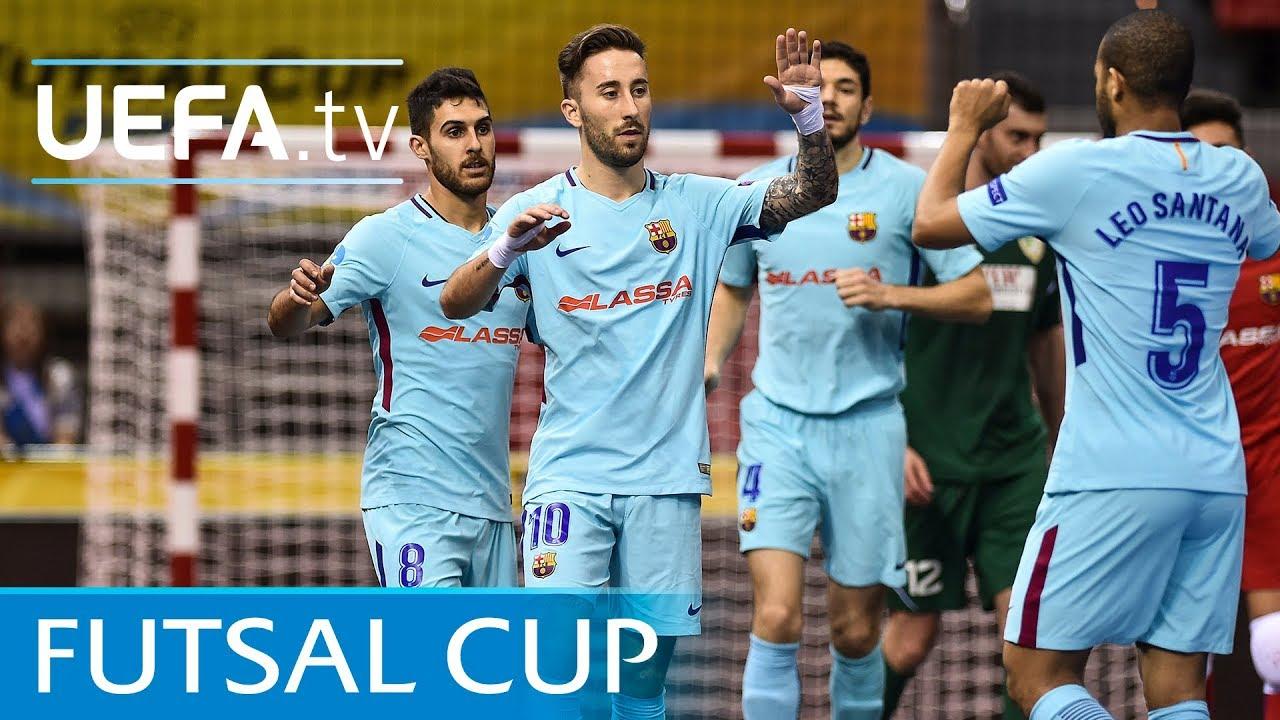 2fb497368d13b Futsal Cup highlights  Third-place play-off Győr v Barcelona - YouTube
