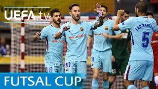 Futsal cup highlights: third-place play-off győr v barcelona