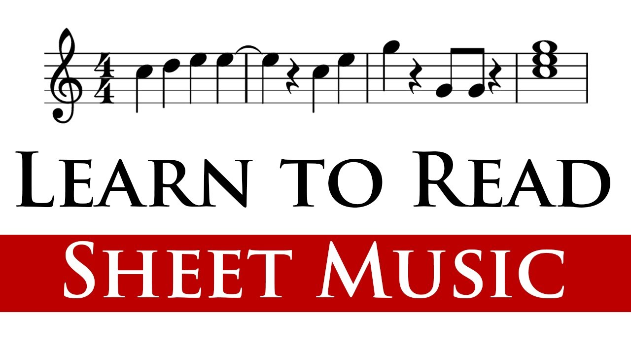 Reading sheet music for beginners 1 4 youtube