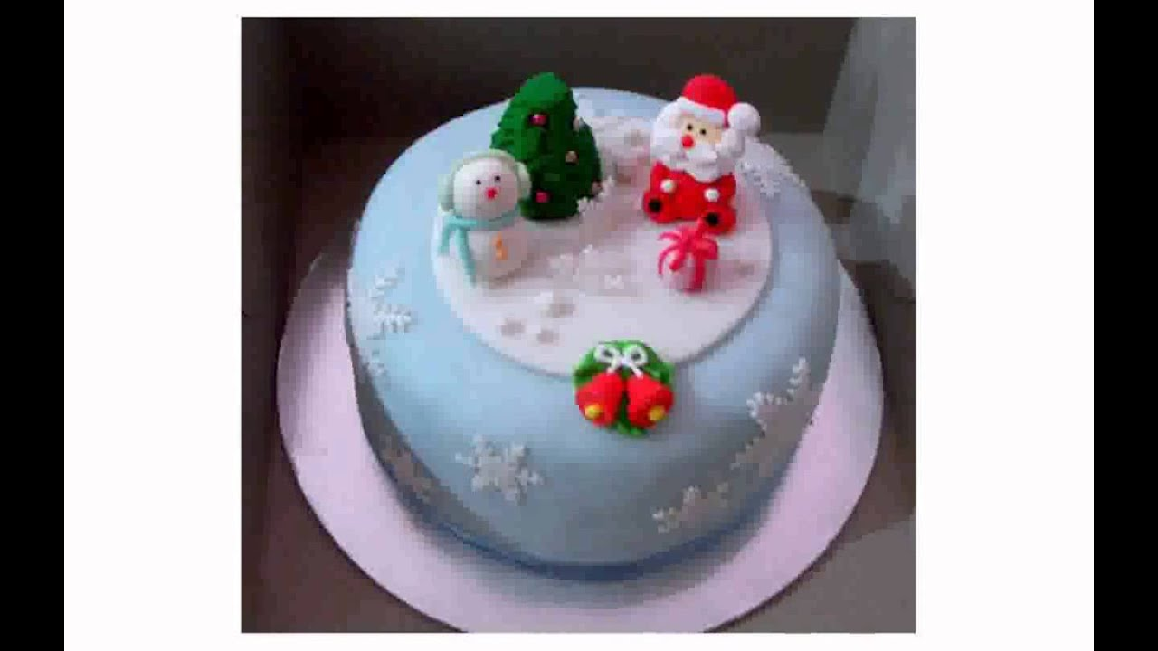 Christmas Cake Decorating Ideas Without Icing : Christmas cake decoration