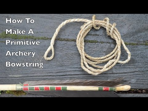 How To Make A Sinew Bowstring for a Primitive Survival Bow. Primitive Technology