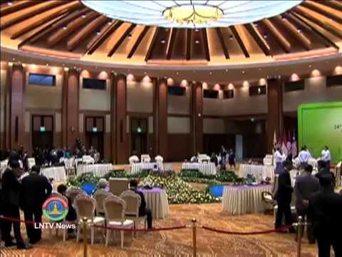 Lao NEWS on LNTV: 24th ASEAN leaders' meeting opens in Myanmar capital.12/5/2014