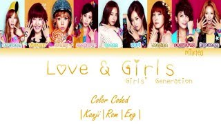 Gambar cover Girls' Generation (少女時代) SNSD – LOVE & GIRLS Lyrics Color Coded |Kanji|Rom|Eng|