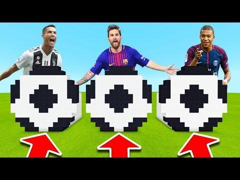 NE CHOISISSEZ PAS LE MAUVAIS BALLON DE FOOT SUR MINECRAFT ! Mbappe , Ronaldo , Messi