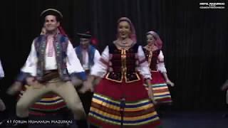 """41 F.HM.Mazurkas- rewelacyjny Zespół """"Wisła""""  z Kurtyby (Brazylia) w tańcach Lemkowskich"""