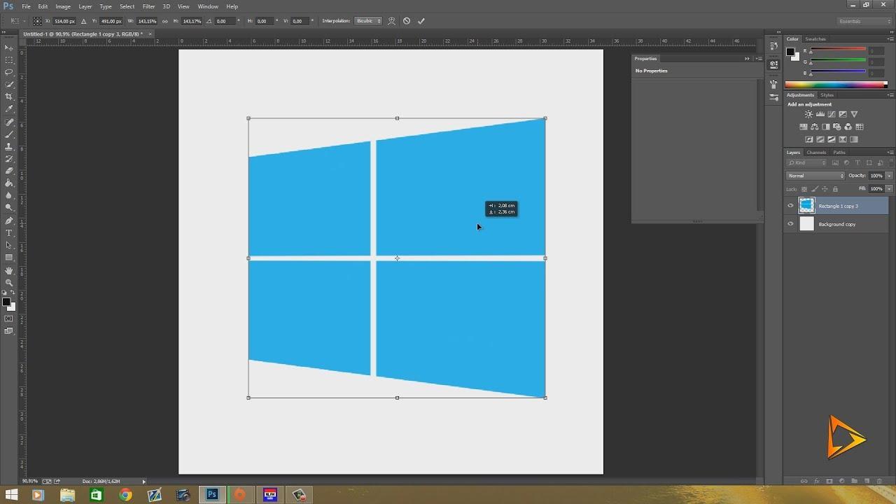 Logo Windows 8: How To Make The Windows 8 Logo In Photoshop