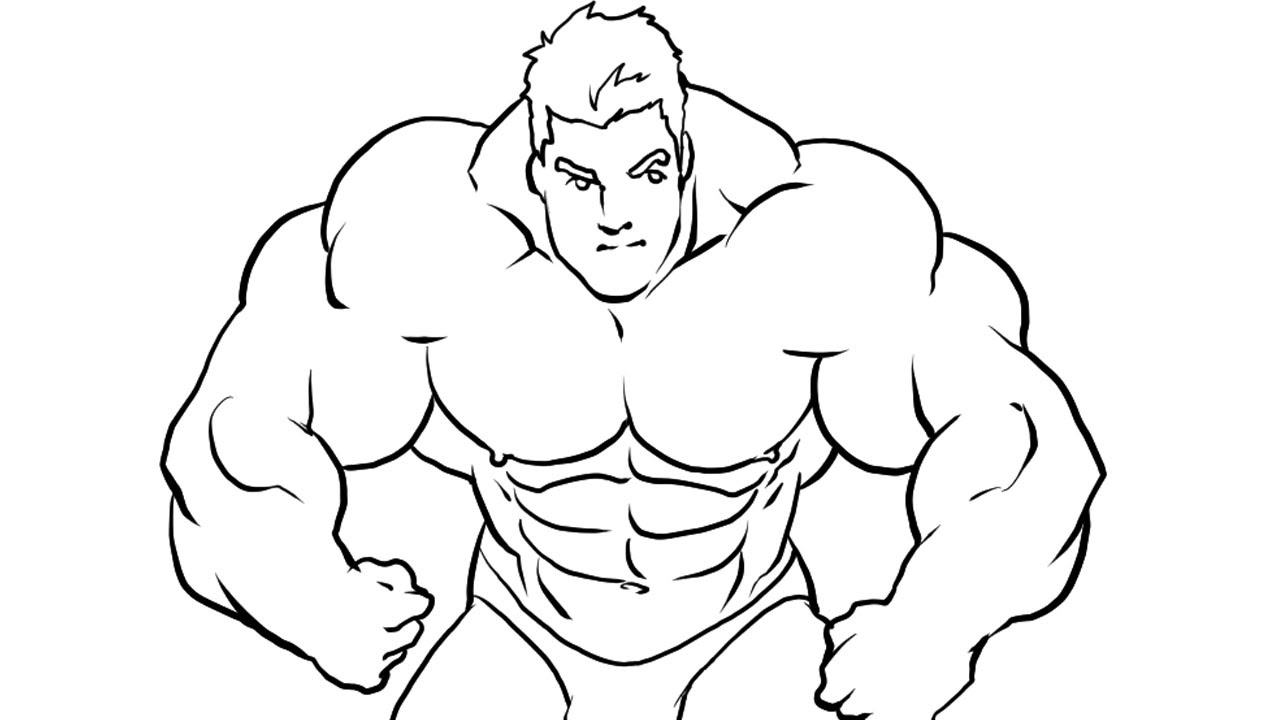 How I Draw A Bodybuilder Manga Style Part 2  Ink