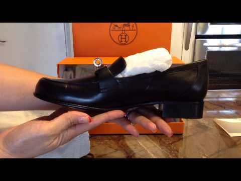 fake birkins - How to spot fake hermes loafers - YouTube