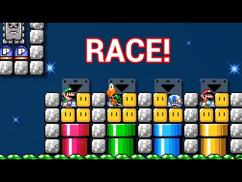 Now THIS Is A Race Worth Watching — Mario Maker 2 Multiplayer Versus W/ RedFalcon & Raysfire