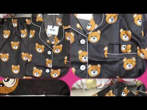 Атласная пижама с Тэдди- Мишками. Магазин #BZEL_Store .