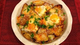 Simply & Delicious: Baked Potatoes With Eggs And Cheese