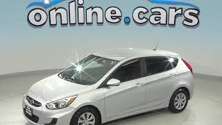 R99022TR Used 2017 Hyundai Accent SE FWD 4D Hatchback Silver Test Drive, Review, For Sale
