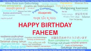 Faheem   Languages Idiomas - Happy Birthday