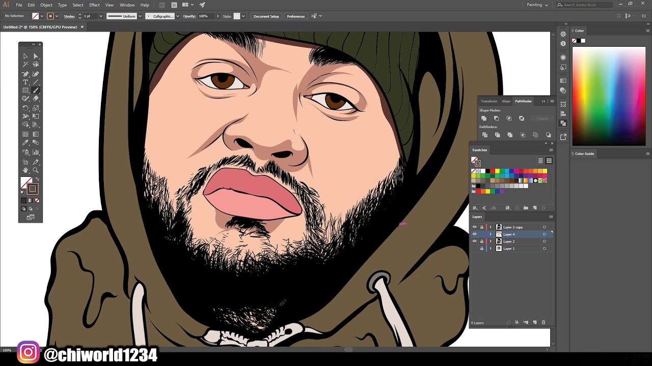 Speedart Cartoon For Customer / Adobe Illustrator