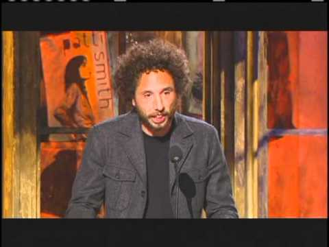 Zack De La Rocha inducts Patti Smith Rock and Roll Hall of Fame Inductions 2007