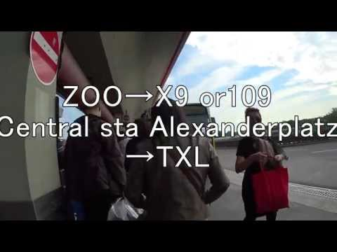 Berlin-Tegel Airport how to go to Berlin cityベルリン空港からベルリン市内までの行き方