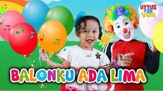 Balonku Ada Lima Versi Dangdut - Lagu Anak Indonesia Populer Bersama Kucing Lucu dan Badut Lucu