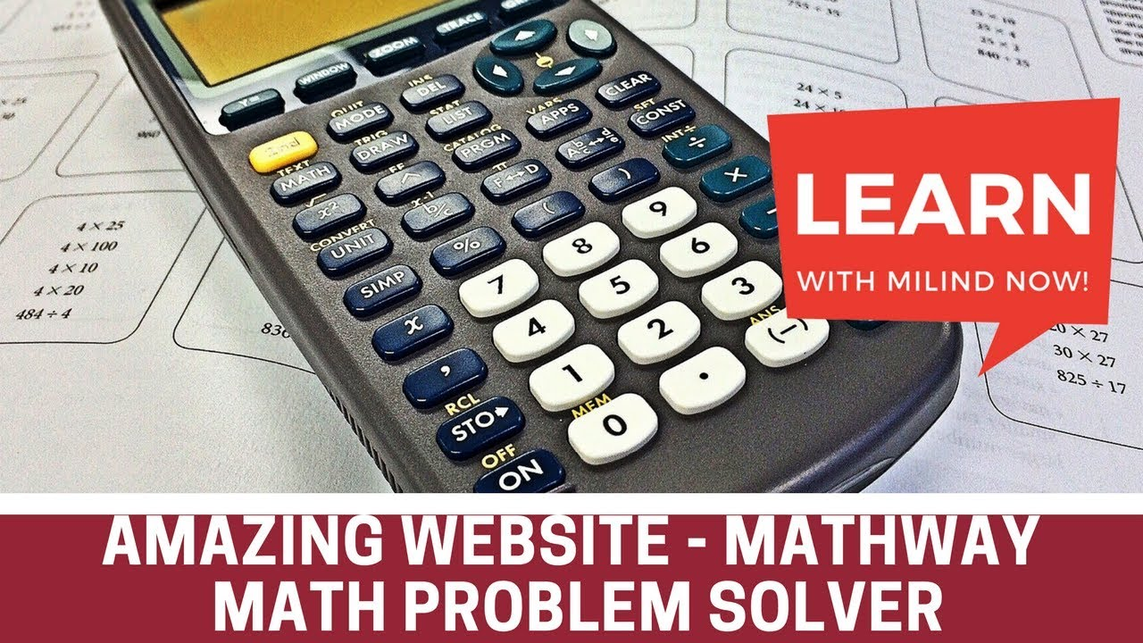 Amazing Websites - 5 - Mathway - Math Problem Solver - Learn with ...