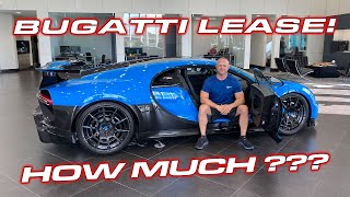 INSANE $$$ * Lease payments on a $3.5M Bugatti Chiron Pur Sport? * Trade Ferrari F8 as down payment?