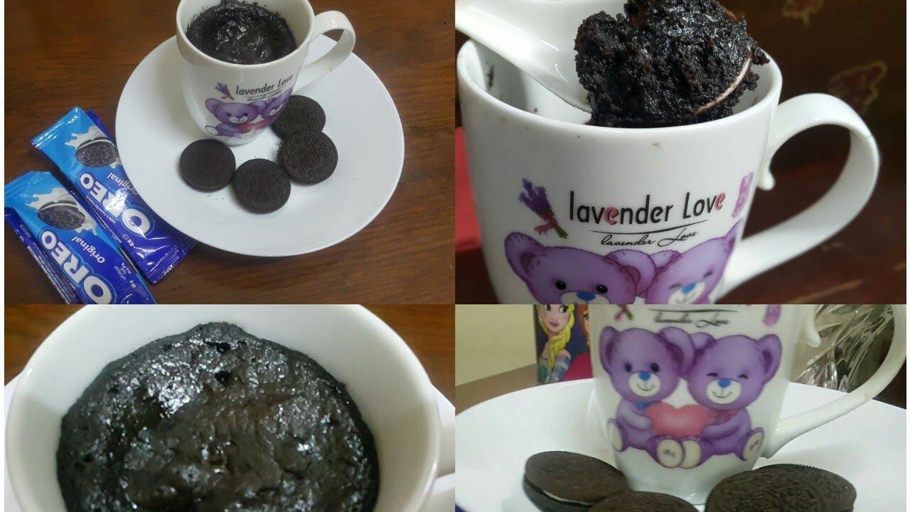 Oreo Mug Cake Without Microwave Oven | Chocolate Oreo Mug ...