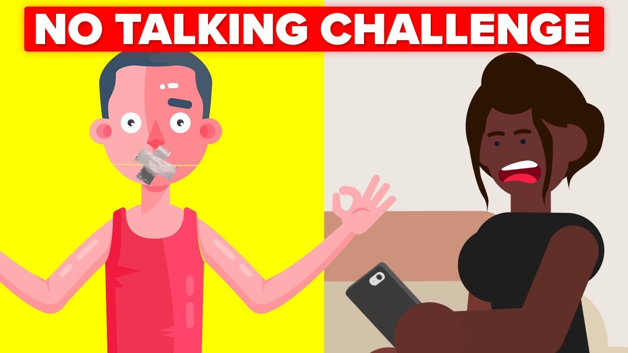 No Talking For 7 Days Challenge (Girlfriend Isn't Happy) || FUNNY ANIMATION  CHALLENGE