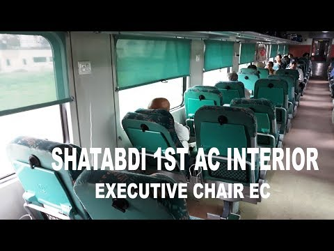 Shatabdi Express 1st AC Interior | Executive Class | New Delhi-Kalka Shatabdi