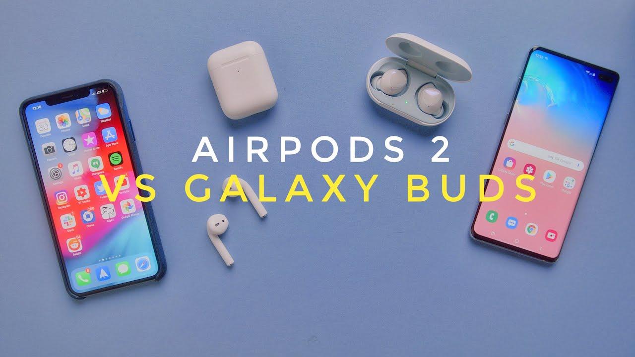 Apple AirPods 2 gegen Samsung Galaxy Buds! + video