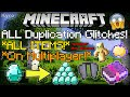 ALL WORKING DUPLICATION GLITCHES! Pt.2  (UPDATED!) (ANY ITEM) Minecraft (Village And Pillage Glitch)