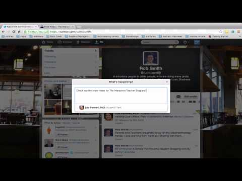 How to put a link into a tweet on twitter