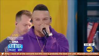 Download Lagu Kane Brown Marshmello Performance One Thing Right Live Concert August 30 2019 1080p MP3
